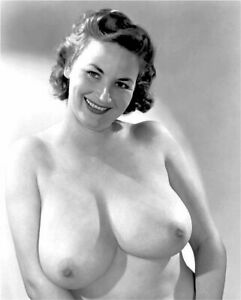 Vintage Photo 8.5x11 #17475  Busty Lovely Burlesque Stripper Cherrie Knight
