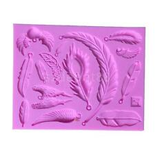 Sugarcraft Cup Cake Mold Chocolate Clay Feather DIY Silicone Fondant Mould
