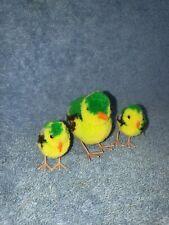 VINTAGE STEIFF POM POM BIRD FINCH FAMILY CLEAN MOVABLE LEGS!!