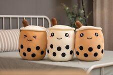 Plüschtier Bubble Tea Tasse mit Milchtee Kissen Gefüllte weiche Rücken Kissen