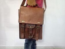 """Bag Leather 11"""" Vintage Messenger Shoulder Men Satchel Laptop School Briefcase"""
