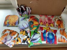 Flannel Story Farm Animal, Farmer cow, pig, dog, turkey, felt /puppets set of 10