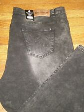 NWT ROCAWEAR CLASSIC FIT FADED WASHED BLACK-GREY JEANS SZ: 52 X 32 RETAIL $68.00