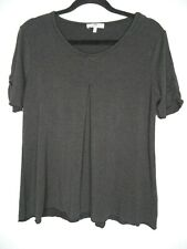 PETER HAHN Top Size UK20 Grey Soft Stretch Plus Size Casual Pleat