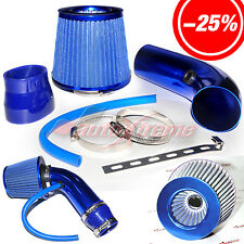 "2.5""-3.0"" UNIVERSAL COLD AIR Intake INDUCTION HOSE KIT System & JDM Filter BLUE"