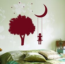 Wall Vinyl Decal Trees Swings Romantic Kids Nursery Children Decor z3683