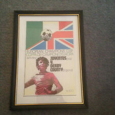 FRAMED CANVAS PRINT OF 1973 EUROPEAN CUP SEMI FINAL - JUVENTUS V DERBY COUNTY
