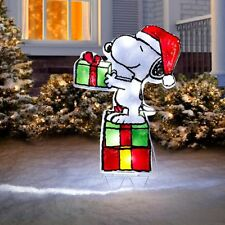 Battery Operated Lighted Peanuts Snoopy Display Outdoor Christmas Yard Decor