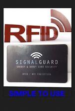 Signal garde Blocs sans fil illégales Carte de Crédit Rfid lecteurs (garder ID SAFE)