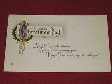 1919 A Joyous Christmas Day Postcard #254F Embossed Posted VG