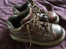 Dr Doc Martens 8542 5-Eye Ankle Boot Brown Leather Made in England Size 6