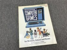 Announcing Computer Games for Business, School & Home for Trs-80 Level II Basic