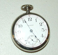 Antique Working 1883 WALTHAM 18s Silver Victorian 15J Railroad RR Pocket Watch