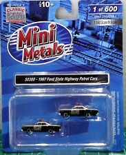 N Scale Classic Metal Works 1967 Ford State Police Cars Limited Run Item #50380