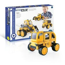 Guidecraft G9460 PowerClix Construction Vehicle Set NEW