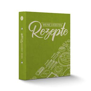 itenga Rezeptordner Kochrezepte-Ringbuch grün DIN A5 Meine liebsten Rezepte