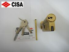 CISA ASTRAL ANTI-SNAP EURO THUMBTURN CYLINDER & REGISTRATION CARD 45/40 - BRASS