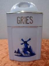 Porzellan Vorratsdose - Windmühle / Hollanddekor - Vintage - Gries