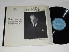 BEETHOVEN Symphony No. 1 & No. 8 LP Angel Records Canada Mono OTTO KLEMPERER