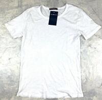 Brandy Melville Crew Neck Short Sleeve Tee Tshirt Top OS White Womens Semi Sheer