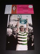 CELTIC FC 1967 EUROPEAN CUP FINAL BILLY MCNEILL SIGNED REPRINT PHOTOGRAPH