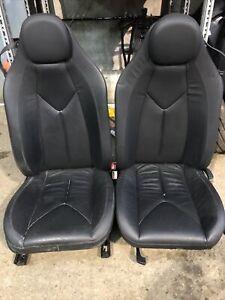 MERCEDES SLK R171 2004-2011 LEATHER SEATS AND DOOR CARDS BLACK