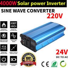 4000W Car Solar Power Inverter LED Display 24V DC to 220V AC Sine Wave Converter