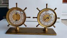 Stazione meteo con barometro igrometro e termometro timoni stile marinaro