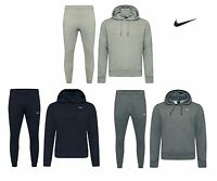 Nike Mens Foundation 2 Tracksuit Fleece Hooded Jogging Tapered Bottoms S M L XL