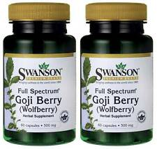 120 Caps 500mg Goji Berry Wolfberry 2X, Anitoxidant, Eyes Kidneys Liver + Bonus
