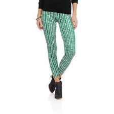 Leggings Green & White, Thick & Thin OS One Size Buttery Soft Ooh La Leggings