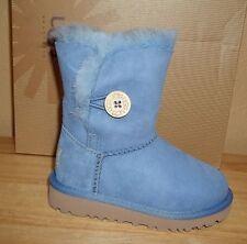 UGG Australia Bailey Button Kids Toddler Sheepskin Boots New US 8 Estate Blue