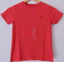 Ralph Lauren Boys Age 5 S/Sleeve Red Cotton T.Shirt w/ Navy Logo RRP £19