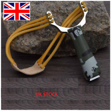 UK Powerful Slingshot Catapult Steel Handle Sling Shot Outdoor Game Hunting New
