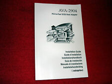 Adaptec-original-manuale-Guide per ava-2904 PCI-SCSI-Adattatore (6 languages) solo: