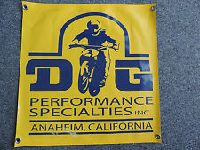 Old School Style DG  Vintage Motocross Shop Garage Banner Honda XR 75 KX CR YZ