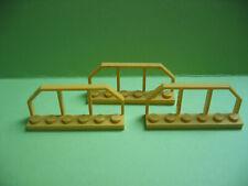 Lego 6583 Zäune gelb 3 x Zaun Gitter Absprerrung Kran 7905 7344 4178  7939 8464