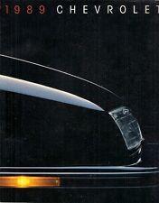 Chevrolet Cavalier Corsica Beretta Celebrity Camaro Caprice 1989 USA Brochure