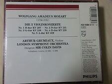 MOZART VIOLIN CONCERTOS  GRUMIAUX  422 938-2  NM