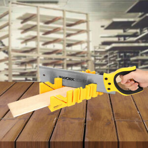 12Inch ABS Clamping Mitre Box Multi Angle Saw Guide With 14Inch Back Blade