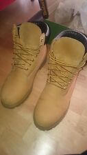 "Timberland Yellow Boots Stiefel 6"" Inch 10061 Beige Wheat EU 45 US 11 Gebraucht"