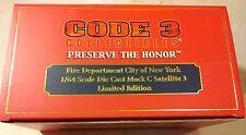 Code 3 City New York Fire Department 1:64 Die-Cast Mack C Satellite 3 12544  VT