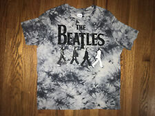 The Beatles Tie Dye T Shirt Mens XL Gray Preowned Beatles