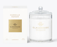Glasshouse Marseille Memoir 380g Soy Candle Gardenia Triple Scented *FreePost