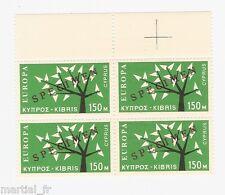 SPECIMEN Europa Cept 1962 Chypre Cyprus Zypern Yvert n° 209 Michel n° 217 bloc