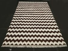 Hand Woven Brown Modern  Designer Dinning Room Home Decorative Area Rug