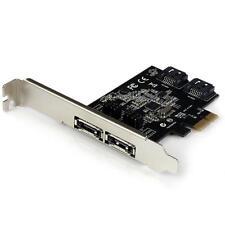StarTech PEXESAT322I 2Port PCIE SATA 6Gbps eSATA Controller Card - 2 Int/2 Ext