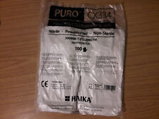 Haika® Puro CX334 Powder Free Nitrile ISO Class 4 Cleanroom Gloves XL , White