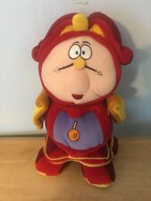 DISNEY STORE BEAUTY AND THE BEAST TALKING CLOCK COGSWORTH PLUSH DOLL FIGURE