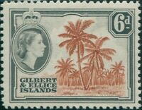 Gilbert & Ellice Islands 1956 SG70 6d Coconut Palms QEII MNH